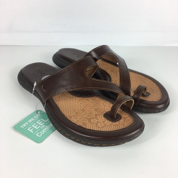 f8bba77a32af1 Born Shoes - BOC Born Womens Lotte Brown Slip On Sandals